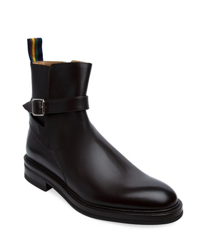 Men's Leo Ankle Boots with Buckle Strap