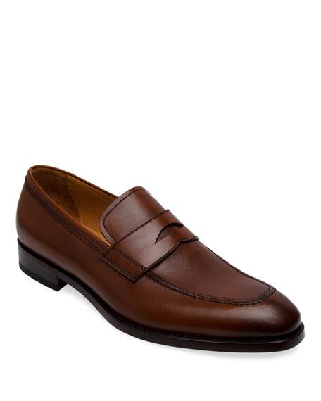 Paul Stuart Men's Lane Leather Penny Loafers