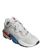 Adidas Men's Torsion X Multicolor-Sole Runner Sneakers