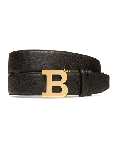 Men's 40mm B-Buckle Leather Belt