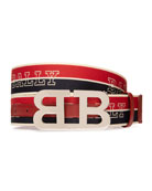 Bally Men's Mirror 40mm Reversible Logo Belt