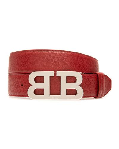 Men's Mirror 40mm Reversible Leather Belt