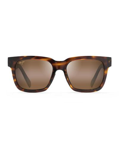 Men's Mongoose Polarized Tortoiseshell Nylon Sunglasses