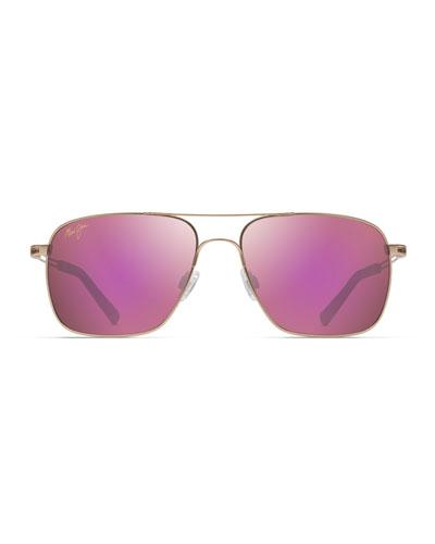 Men's Haleiwa Polarized MauiFlex Metal Aviator Sunglasses