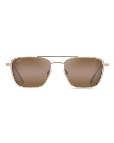 Men's Ebb and Flow Polarized Titanium Aviator Sunglasses