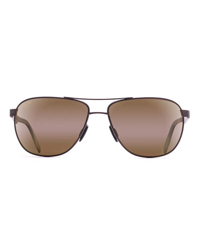 Men's Castles Polarized Metal Aviator Sunglasses