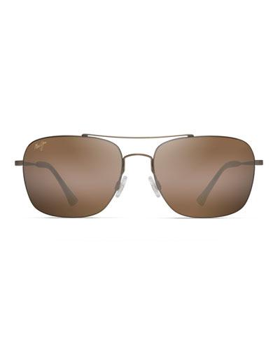 Men's Lava Tube Polarized Lightweight Titanium Sunglasses