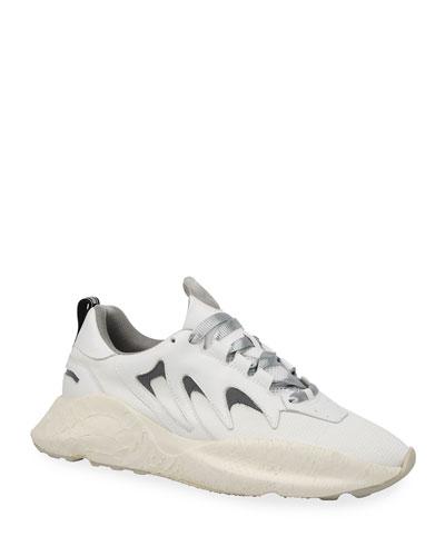 Men's Viper Chunky Snake-Effect Sneakers
