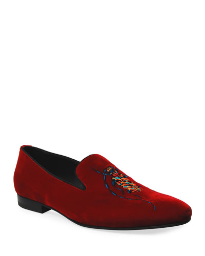 Men's Venetian Loafer with Periplaneta Embroidery