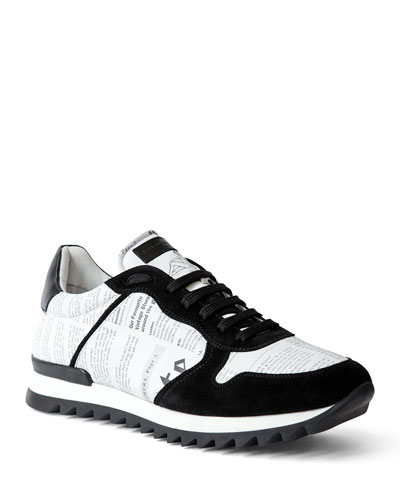 Men's Gazette Leather/Suede Trainer Sneakers
