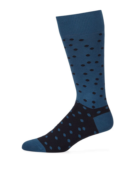 Paul Smith Men's Two-Tone Dotted Socks