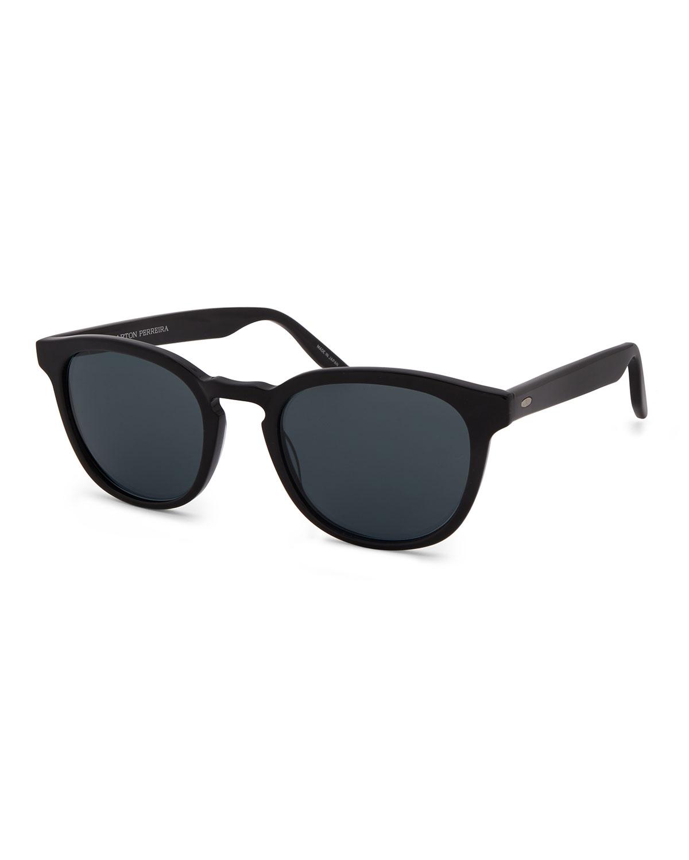 Men's Gellert 51 Round Solid Acetate Sunglasses