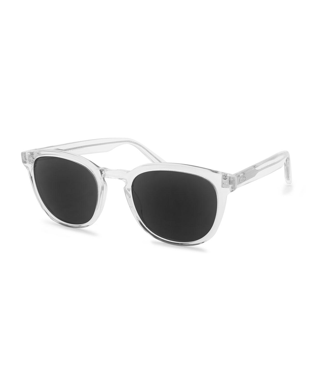 Men's Gellert 51 Round Transparent Acetate Sunglasses