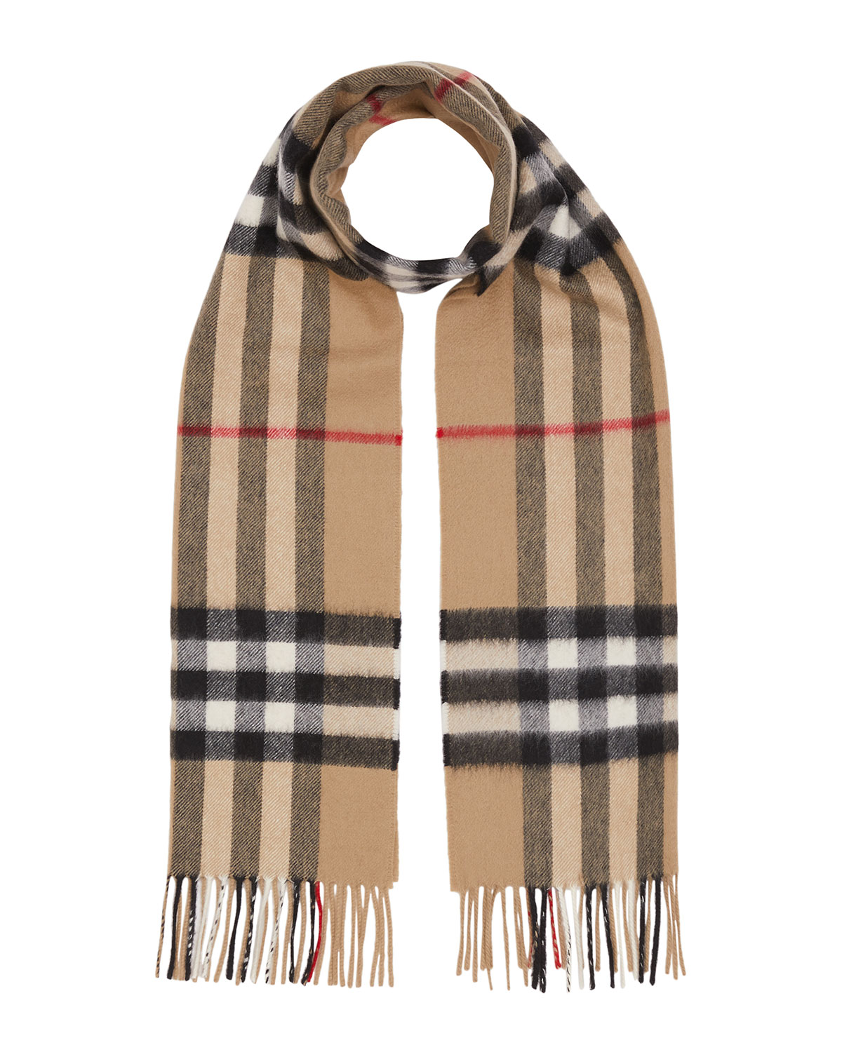 Burberry Accessories MEN'S GIANT CHECK CASHMERE SCARF
