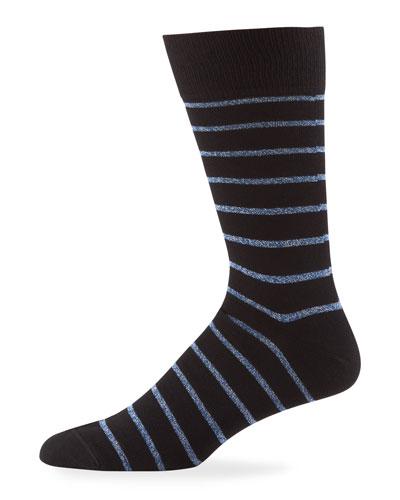 Men's Ben Metallic Stripe Socks