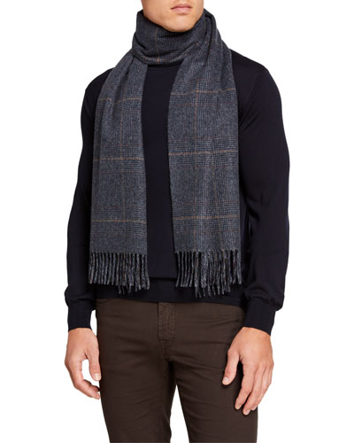 Men's Overwales Cashmere Scarf
