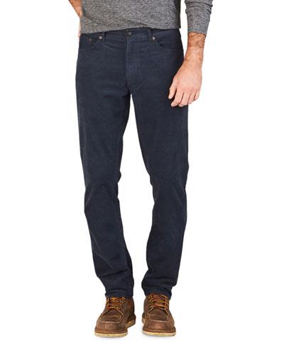 Men's Stretch-Corduroy 5-Pocket Pants, Navy