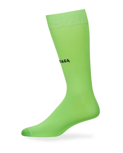 Men's Classic Fluorescent Logo Socks