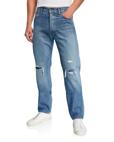 Men's Rip/Repair Vintage Straight Jeans