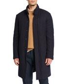 Loro Piana Men's New York Solid Hidden-Button Topcoat