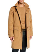 Loro Piana Men's Livingstone Cashmere Topcoat with Suede