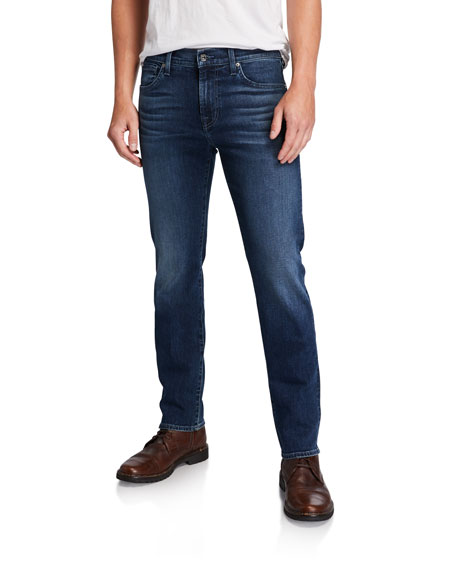 7 for all mankind Luxe Performance: Straight-Leg Denim Jeans