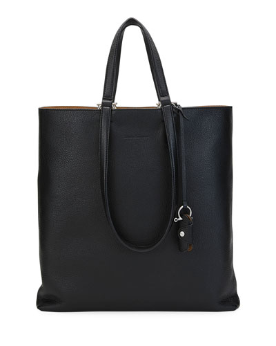 Men's Grained Leather Tornabuoni Tote Bag