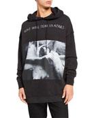 R13 Men's LWTUA Album Graphic Pullover Hoodie