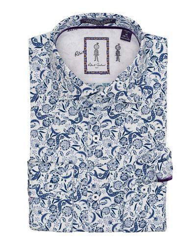 Men's Marleigh Floral Sport Shirt
