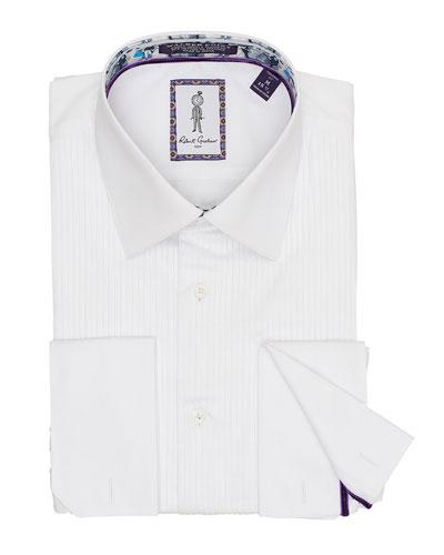 Men's Whitby Pleated-Bib Dress Shirt