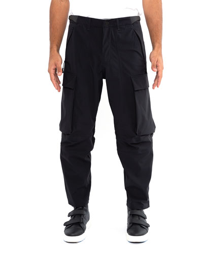 Men's Relaxed-Fit Cropped Cargo Pants