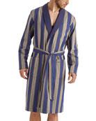 Hanro Men's Night & Day Striped Cotton Robe