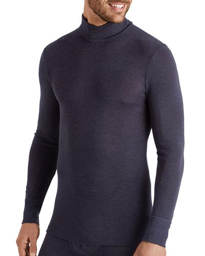 Men's Wool-Silk Turtleneck T-Shirt
