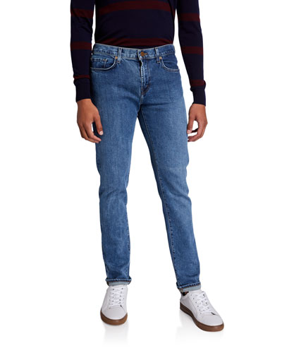 Men's Tyler Medium-Wash Tapered Stretch Jeans