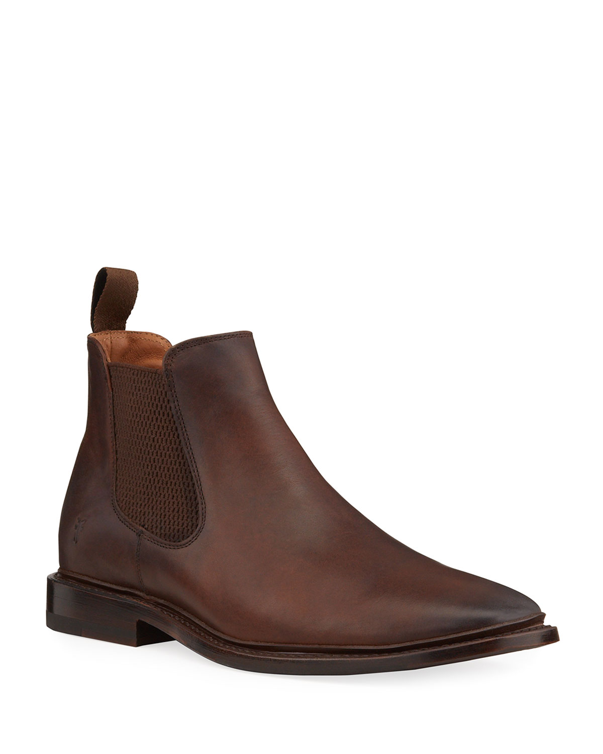Men's Paul Burnished Leather Chelsea Boots