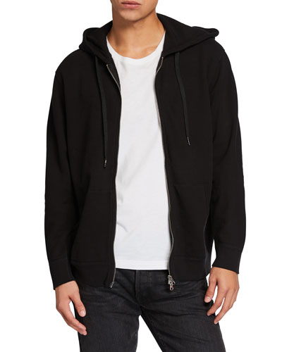 Men's Ruder Sueded Terry Zip-Front Hoodie