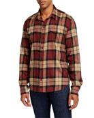 PAIGE Men's Everett Classic Fall Plaid Sport Shirt