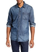 PAIGE Men's Bedford Classic Denim Sport Shirt