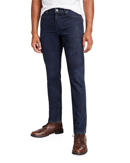 PAIGE Men's Lennox TRANSCEND Slim Dark-Wash Jeans