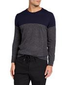 Icebreaker Men's Shearer Colorblock Merino Wool Sweater