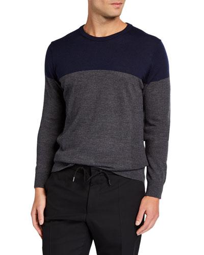 Men's Shearer Colorblock Merino Wool Sweater