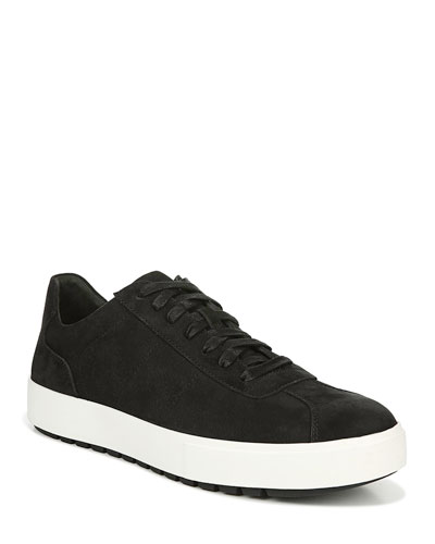 Men's Lamont Waterproof Suede Low-Top Sneakers