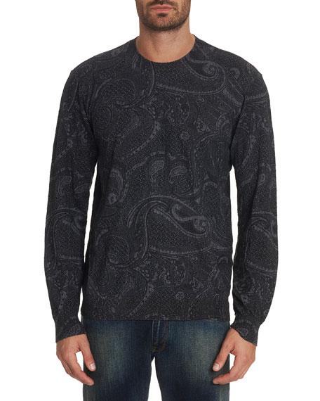 Robert Graham Men's Bonanova Paisley-Print Crewneck Sweater