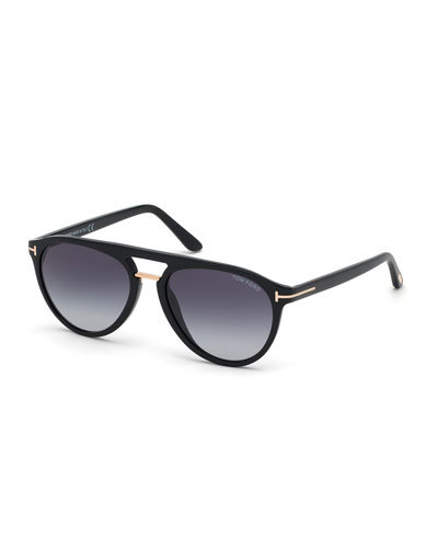 Men's Burton Double-Bridge Modern Aviator Sunglasses