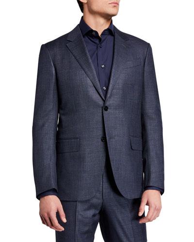 Men's Tic Windowpane Two-Piece Suit