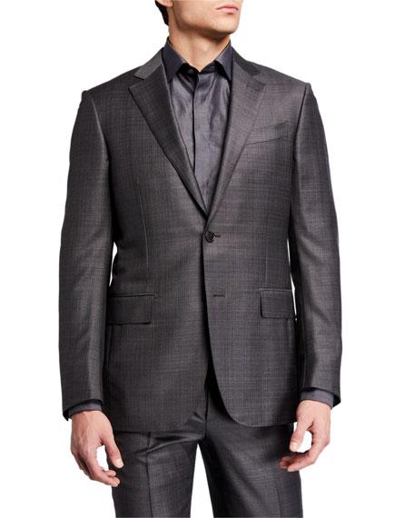 Ermenegildo Zegna Men's Tonal Plaid Two-Piece Wool Suit
