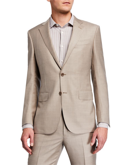 Ermenegildo Zegna Men's Heathered Solid Regular-Fit Wool Two-Piece Suit