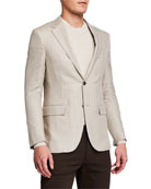 Ermenegildo Zegna Men's Herringbone Two-Button Regular-Fit Jacket