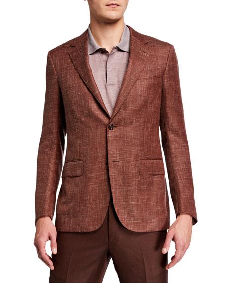 Ermenegildo Zegna Men's Wool-Blend Textured Regular-Fit Blazer