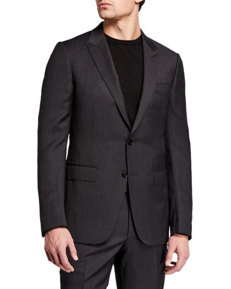Ermenegildo Zegna Men's Textured Trim-Fit Wool-Silk Two-Piece Suit
